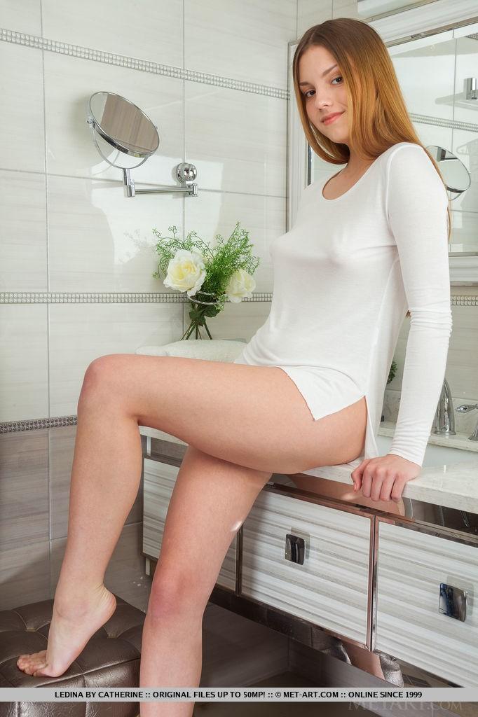 Sexy Redhead Babe Ledina in Retobi by Catherine