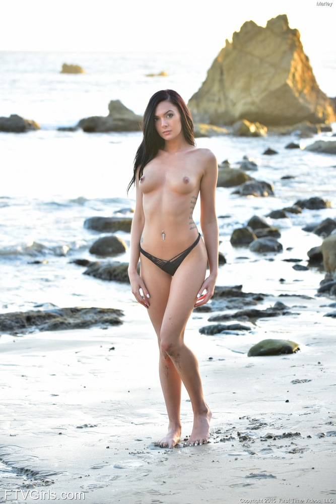 Sexy Babe Marley At The Beach