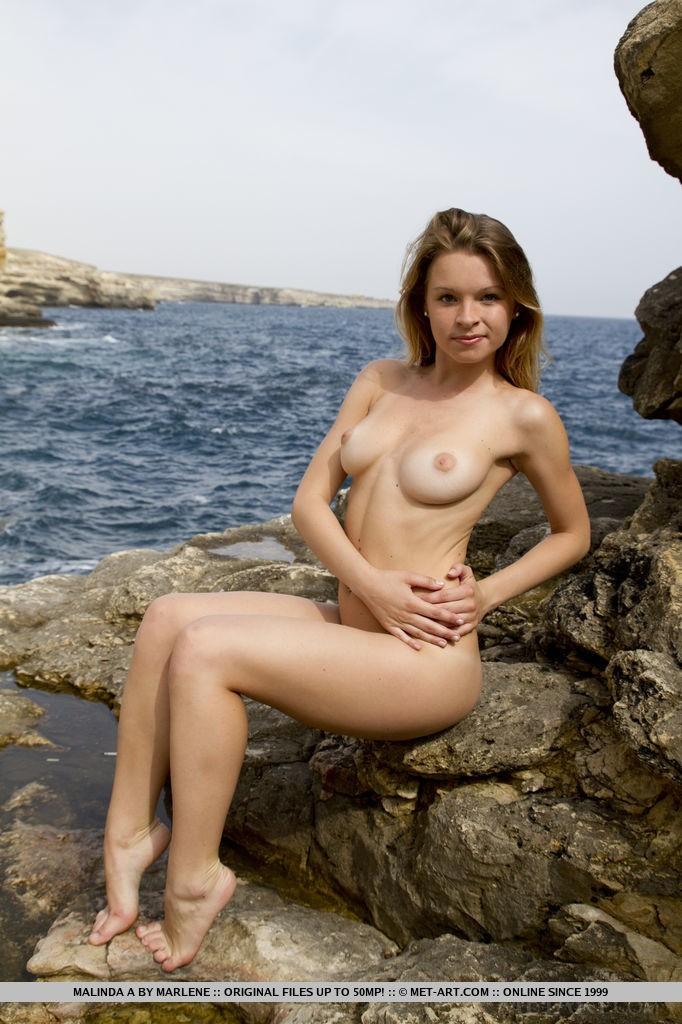 Beautiful Babe Malinda A on the Beach